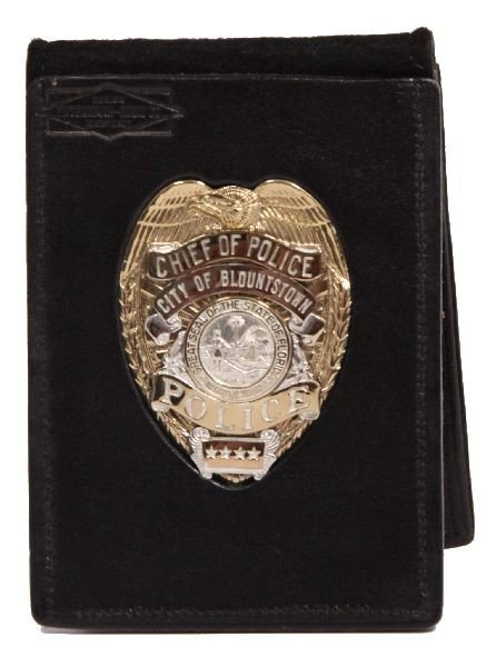 CHIEF OF POLICE BADGE BLOUNTSTOWN FLORIDA NAMED