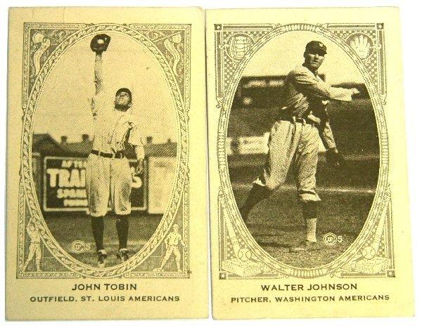 1922 AMERICAN CARAMEL E120 TOBIN & JOHNSON CARDS
