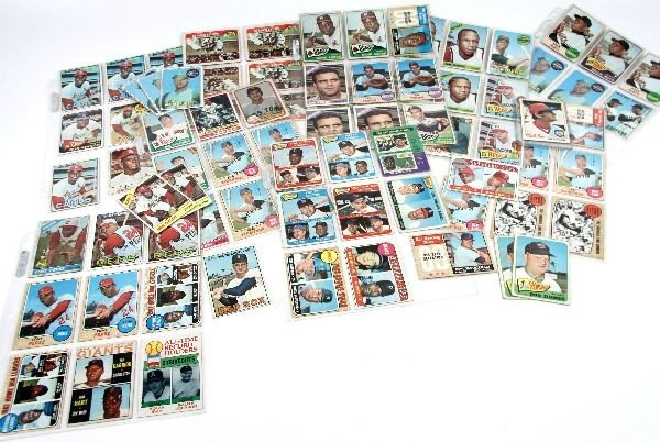 BASEBALL CARD COLLECTION MANTLE MAYS AARON & MORE