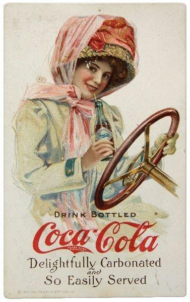 """RARE 1910 COCA-COLA """"DUSTER GIRL"""" POSTCARD"""