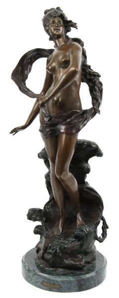 LARGE BRONZE BY MASTER AUGUSTE MOREAU