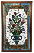 ENGLISH STYLE STAINED GLASS WINDOW PANEL