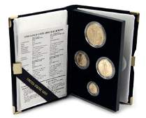 GOLD AMERICAN EAGLE PROOF 1990 4 COIN SET