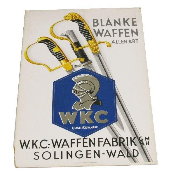 ORIGINAL WKC SOLINGEN FACTORY ADVERTISING SIGN