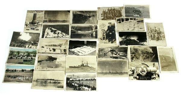 26 USN PHOTO POSTCARDS & C.E. LOFGREN AUTOGRAPH