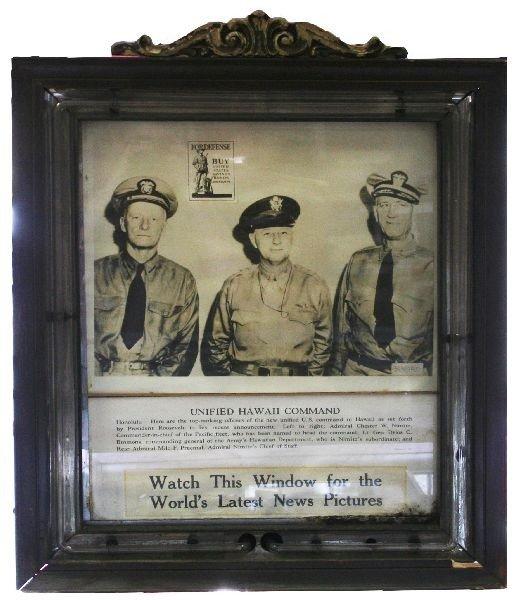 WWII MOVIE THEATRE NEON WAR BOND ADVERTISING SIGN