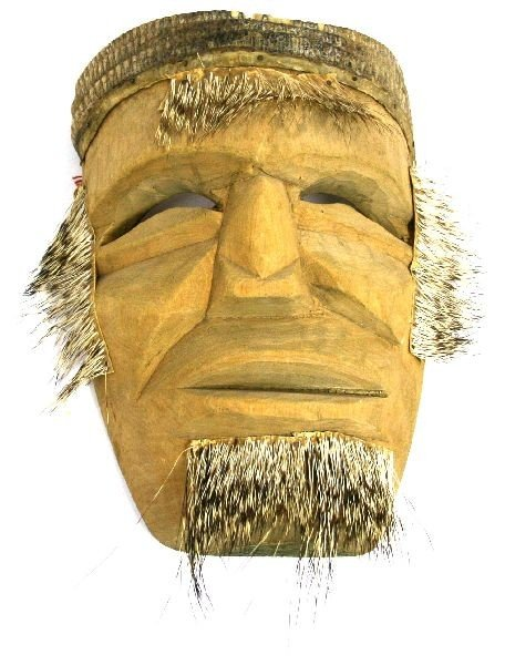 PACIFIC NORTHWESTERN NATIVE AMERICAN QUILL MASK