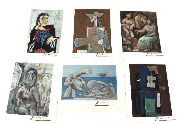 PABLO PICASSO ORIGINAL DRAWING AND SIGNED LITHOS