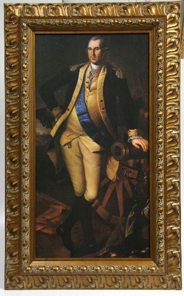 CHARLES WILSON PEALE PORTRAIT OF WASHINGTON COPY