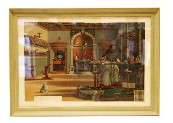 1880'S FRAMED CHROMOLITHOGRAPH BY FRICK