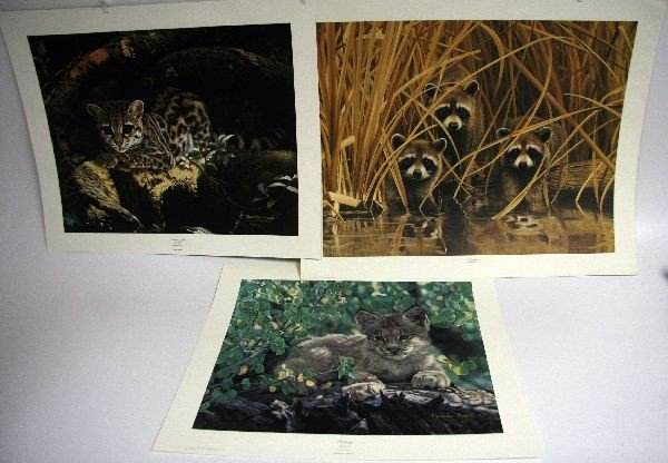 3 CHARLES FRACE HAND SIGNED LITHOGRAPHS