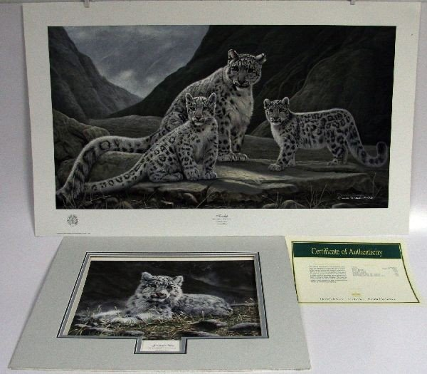 TWO CHARLES SIGNED LIMITED EDITION LITHOGRAPHS