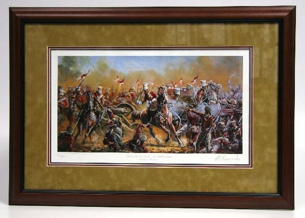 CHARGE OF THE 16TH LANCERS LITHO BY MARK CHURMS