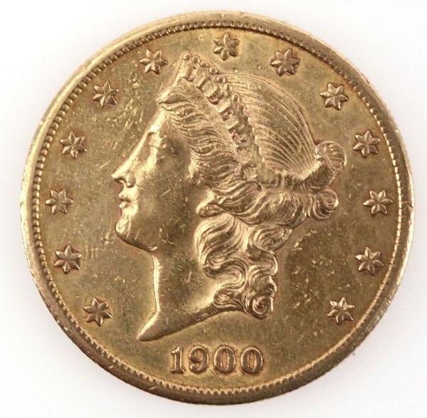 1900 US $20 GOLD EAGLE IN PLASTIC HOLDER
