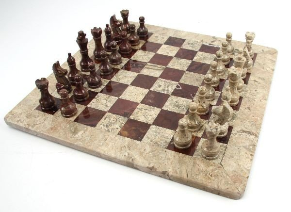 HAND CRAFTED MARBLE & GRANITE PAKISTANI CHESS SET