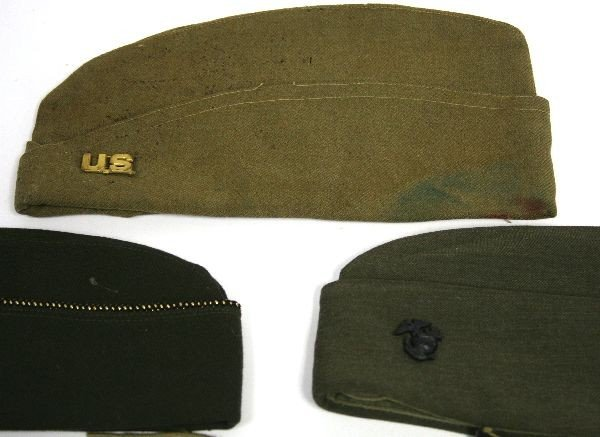 WW2 WW2 AND LATER MILITARY CAP LOT & LEGGINGS - 2