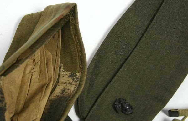 WW2 WW2 AND LATER MILITARY CAP LOT & LEGGINGS - 4