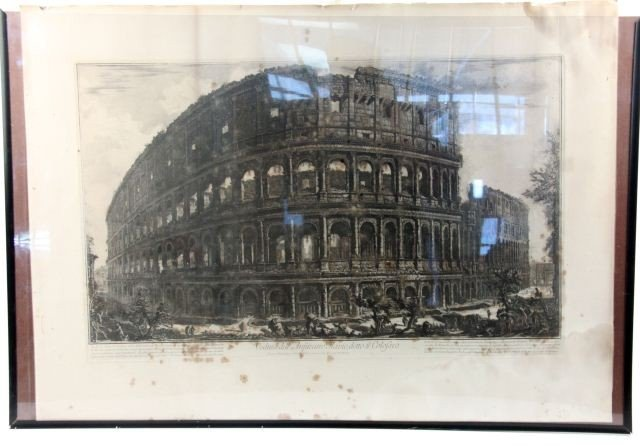 PIRANESI ETCHING OF THE COLOSSEUM IN ROME