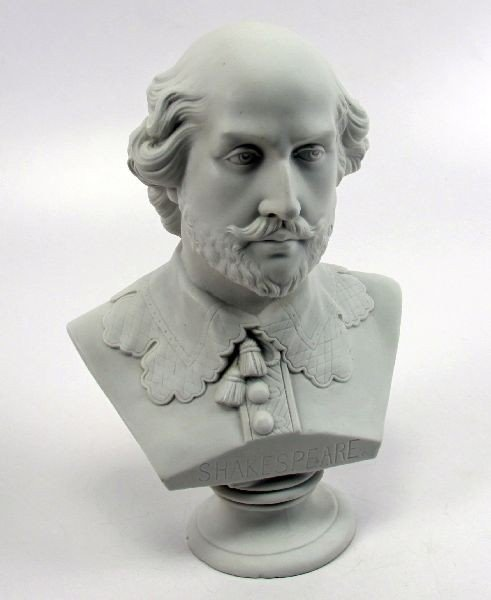 "WILLIAM SHAKESPEARE 10"" PORCELAIN BUST"