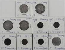 WWii THIRD REICH NAZI SILVER GERMAN MARK COIN LOT