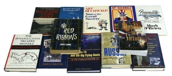 SIGNED MILITARY BOOKS NAMED TO USN CAPT SNYDER