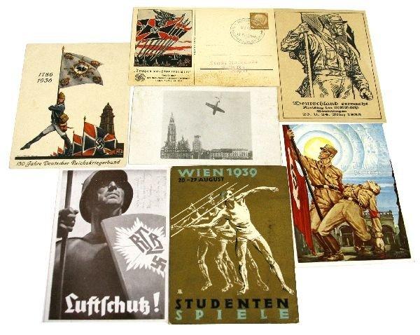 WWII GERMAN PROPAGANDA POSTCARD LOT RARE CARDS