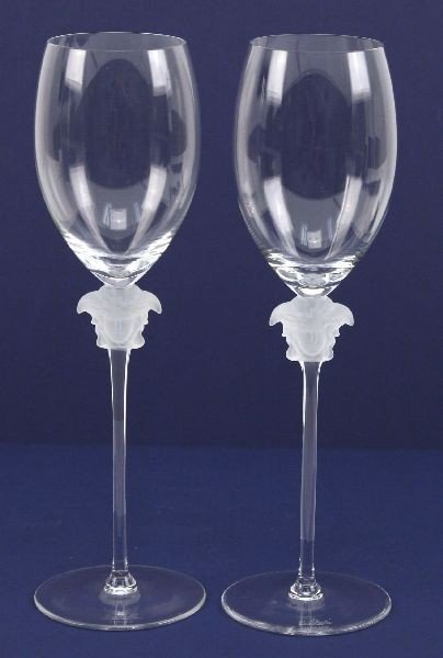 ROSENTHAL VERSACE LUMIERE CRYSTAL WATER GOBLETS