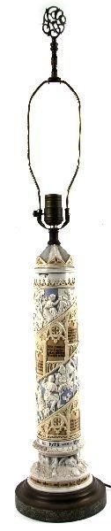 EARLY 20TH CENTURY METTLACH POKAL LAMP