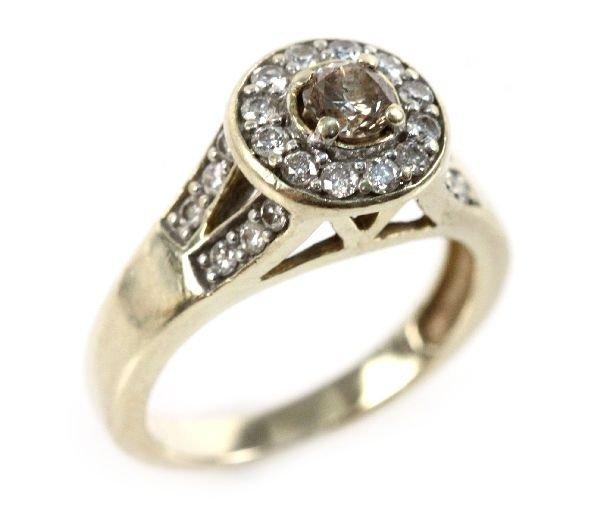 LADIES 14K YELLOW GOLD DIAMOND RING 1 CTW