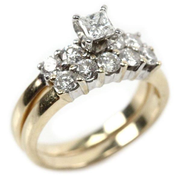 LADIES 14K YELLOW GOLD 1.37CTW DIAMOND WEDDING SET