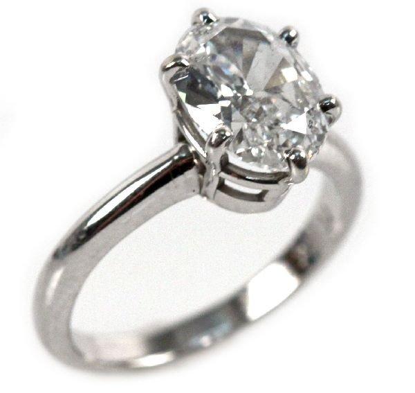 LADIES 14K WHITE GOLD DIAMOND RING 1.8 CTW