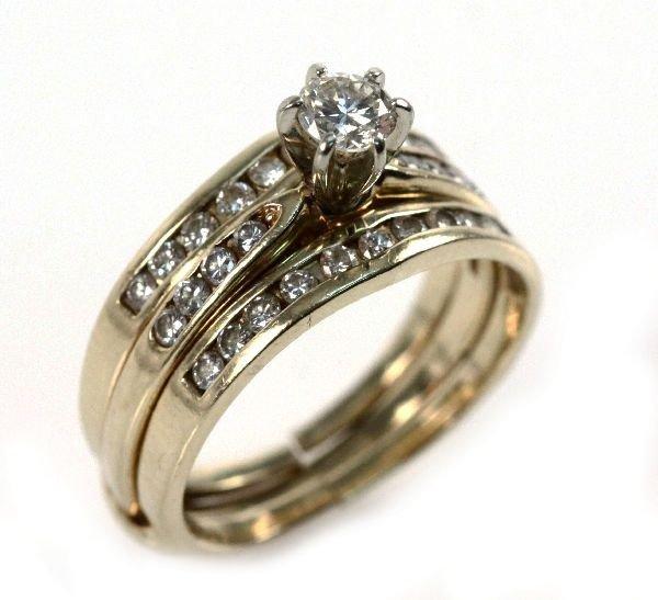 LADIES 14K DIAMOND WEDDING SET