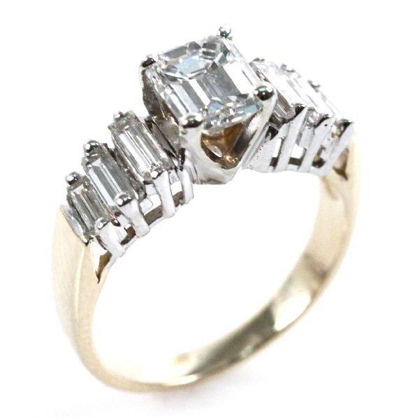 LADIES 14K YELLOW GOLD DIAMOND RING 1.74 CTW