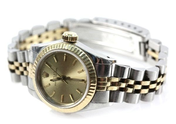 LADIES TWO TONE ROLEX OYSTER PERPETUAL