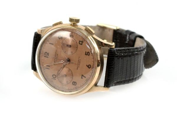 MENS 14K ANTIMAGNETIC CHRONOGRAPH WATCH