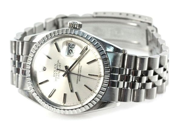 MENS STAINLESS ROLEX OYSTER PERPETUAL DATEJUST