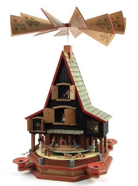 german advent house candle carousel