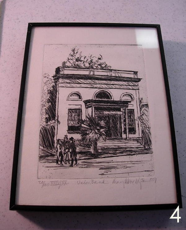 4: HISTORICAL UNION BANK TALLAHASSEE, FLA. SKETCH BY MA