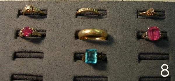 8: ANTIQUE AND VINTAGE RING LOT OF 7 14K GOLD WEDDING B