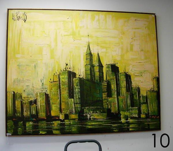 10: LEE REYNOLDS CITYSCAPE OIL PAINTING LEE REYNOLDS LO