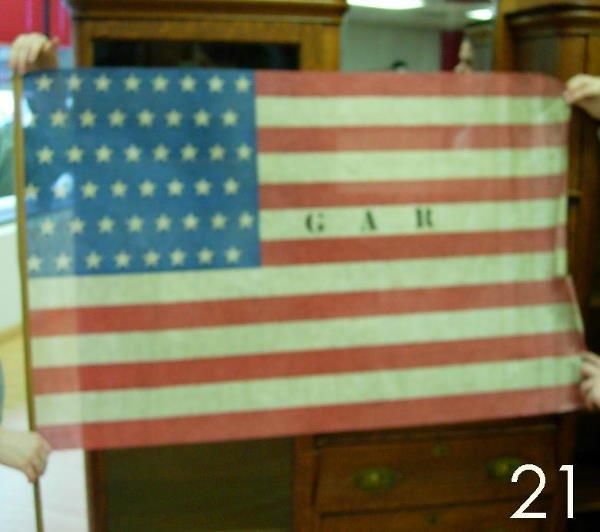 21: GAR REUNION 48 STAR FLAG UNITED STATES LARGE
