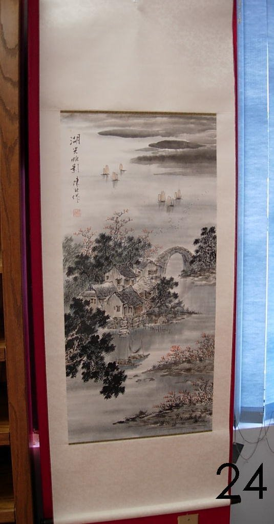 24: HAND MADE CHINESE SCROLL PAINTING EXQUISITE DETAIL