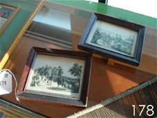 178 CURRIER AND IVES ANTIQUE LITHOGRAPHS LOT OF 2 MINI
