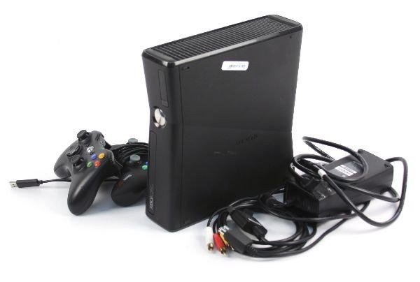 XBOX 360 W/ AC ADAPTER AND 2 CONTROLLERS & CONNECT