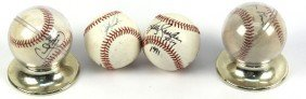 DWIGHT GOODEN AND 3 OTHER SIGNED BALLS