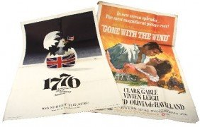 LOT OF GONE WITH THE WIND AND 1776 MOVIE POSTERS