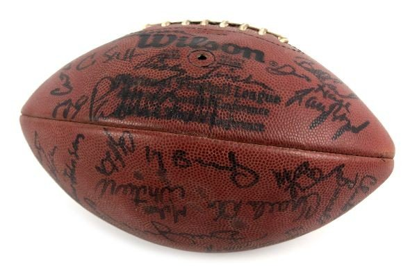1984 CLEVELAND BROWNS TEAM SIGNED BALL