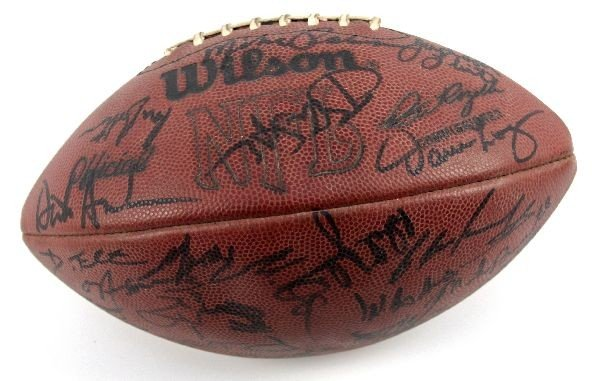 1984 CLEVELAND BROWNS TEAM SIGNED BALL - 2