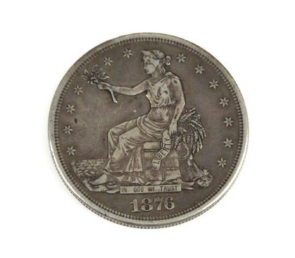 1876 S SILVER U.S. TRADE DOLLAR VF