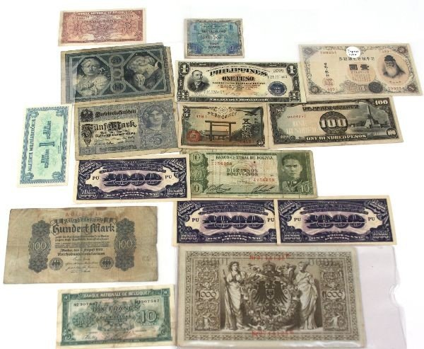 COLLECTION OF INVASION NOTES AND WORLD CURRENCY